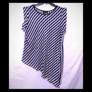 Asley Stewart Asymmetrical blouse
